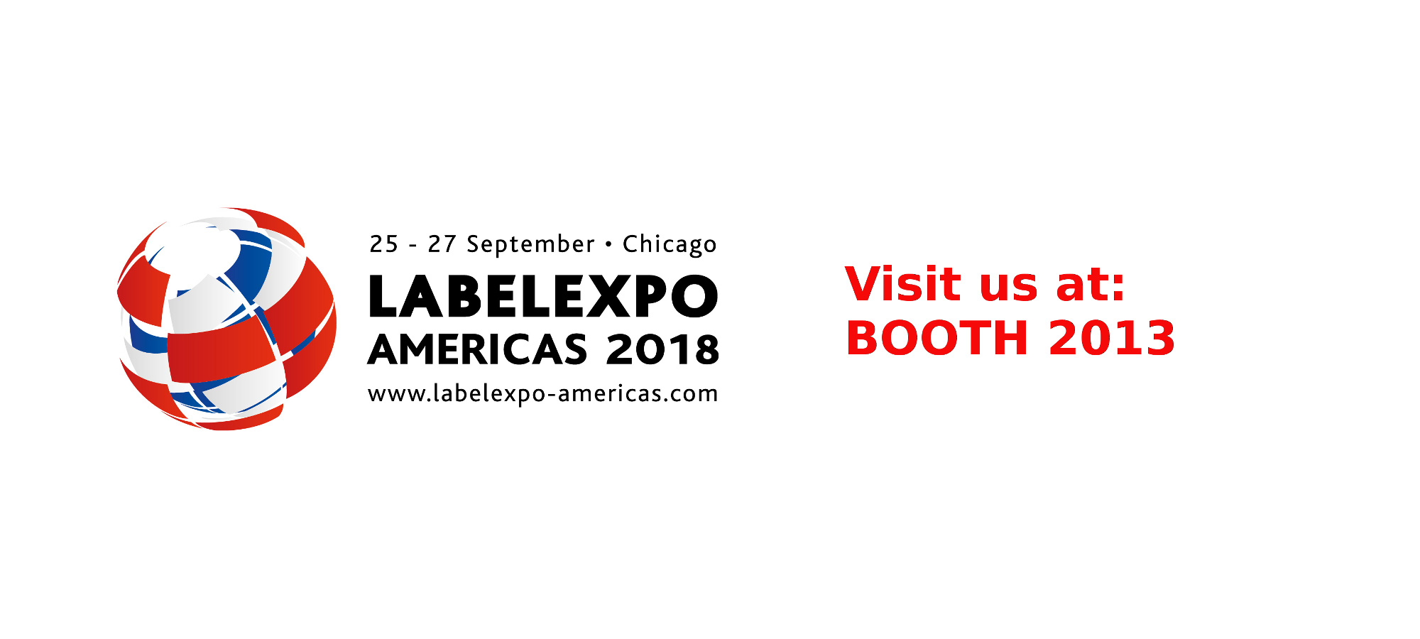 Visit us at Labelexpo 2018 booth 2013